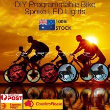 64 RGB LED USB Programmable DYI Bicycle Spoke Light Cycling Bike Wheel Light