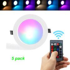 5PCS/SET Dimmbar 10W RGB LED Panel Einbaustrahler Deckenleuchte + Fernbedienung
