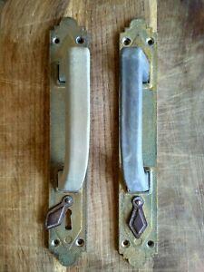 Vintage door handles. Antique doorknob. Made in the USSR. Large, door handle.
