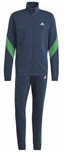Adidas Men's Sport Tracksuit Sportswear Cotton Tracksuit Blue Green