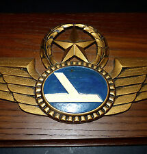 Eastern Airlines Captain Pilot Wings Vintage Large Plaque EAL