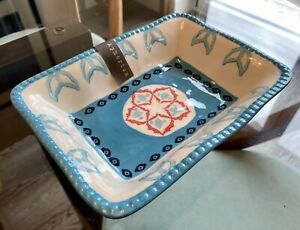 Aphorism Blue & White Baking Dish, 20 x 15 cm