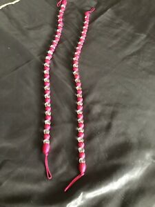 Pair Pink Beaded Tie-backs