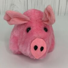 "Petunia Pig Plush PInk Russ 1977 Vintage 5"" Long Stuffed Animal Farm"