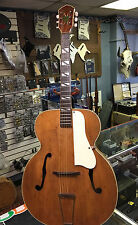 "VINTAGE 1950's KAY SILVERTONE 17"" JAZZ ACOUSTIC ARCHTOP GUITAR GREAT TONE! CASE"