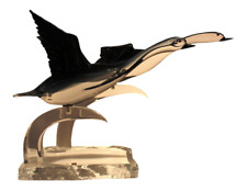 Murano Glass Pair of Geese Sculpture by Oscar Zanetti