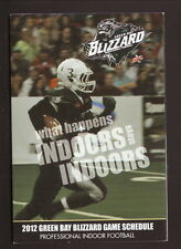 Green Bay Blizzard--2012 Pocket Schedule--Nicolet National Bank--IFL