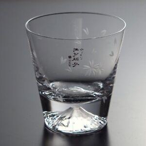 Mt. Fuji & Sakura Rocks Glass (Handmade at Tajima Glass in Tokyo, Japan)