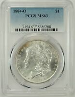 1884-O $1 MORGAN SILVER DOLLAR PCGS MS63 #38656208 - GREAT LOOKING BU COIN!!!