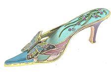 Art Deco High Heel Trinket Box Crystal Decorative Bejeweled Enameled  Decoration