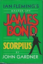 SCORPIUS ~ John Gardner 1988 HC DJ FE James Bond