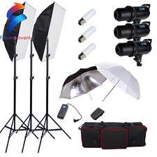 Pro Photography Studio 900W LED Digital Flash Strobe Soft Box Lighting Stand Kit