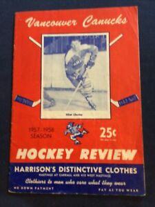 1957-58 Vancouver Canucks Program  vs. Saint Paul