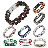 New Bracelet Heavy Stainless Steel Men's Bicycle Chain Motorcycle Jewelry Gift
