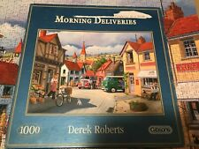 GIBSONS JIGSAW PUZZLE, MORNING DELIVERIES, 1000 PIECES, DEREK ROBERTS