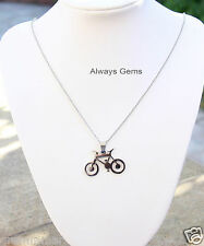 Lovely Bicycle Stainless Steel pendant Stainless steel chain necklace Brand new