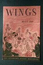 Wings May 1943 Literary Guild Magazine Booklet Books on Rosemary Taylor Chicken