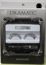 elf DRAMATIC 3PC COSTUME EYELASHES Cosmetics False Adult Women Diva Black Lash