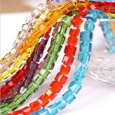 Free Shipping 50pcs 4mm Cube Square Faceted Crystal Austria Loose beads