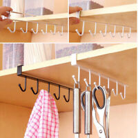 Kitchen Under Shelf Storage Rack Cupboard Cup Holder Firm Hang Organizer Hook