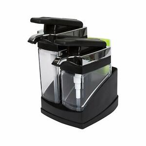 Casabella Sink Sider Duo With Sponge Storage for Dish & Hand Soap - Black Chrome