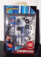 DC COMICS SUPERMAN Shields Logo Design  Earbuds High Definition Sound BRAND NEW