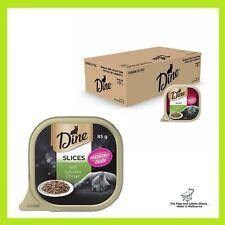 DINE Slices with Succulent Chicken Wet Cat Food 85g 28 Bulk Value Pack