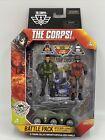 Lanard 1:18 Scale THE CORPS!  2 Fig Battle Pack w/Drone Rucker Shrapnel