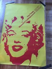 Vintage 70's Museum Contemporary Art MARILYN MONROE pop art POSTER Warholesque