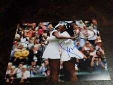 SERENA WILLIAMS & VENUS WILLIAMS AUTOGRAPHED TENNIS 8X10 PHOTO W/COA