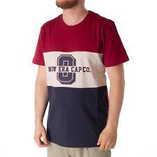 New Era MUNDO Capucha TRI COLOUR Camiseta Camisa Para Hombres Bordo Azul Marino