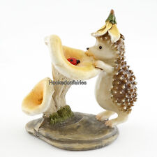 Hedgehog with Ladybug TO 4449 Miniature Fairy Garden/