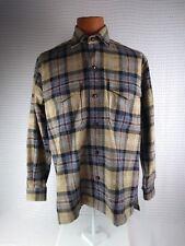 J. PETERMAN 100% WOOL - Men's M Long sleeve  Plaid  Shirt