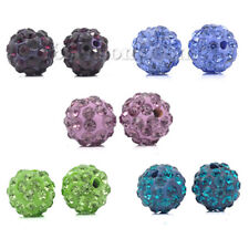 Argile Polymère Ball Beads Round Mixed Pave Strass 5 rangées 10 mm