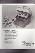 Child Guidance Toy 8x10 Glossy Photo #275 Take-A-Part Tool Box