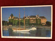 VINTAGE POSTCARD OF C.P.R. EMPRESS HOTEL IN VICTORIA , B.C. CANADA
