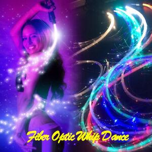 LED Fiber Optic Whip Dance 360° RGB Multi-Mode Flashlight Show Music Festival