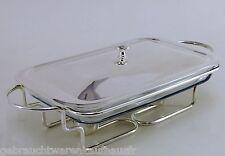 Marinex Speisewärmer rechteckig 3 l aus Edelstahl und Marinex - Glasschale