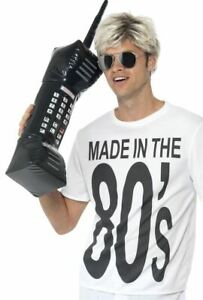 INFLATABLE RETRO MOBILE PHONE cellular device 80s zach morris funny costume prop