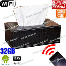 Tissue Box Security Camera Wireless 1080P WIFI IP Room Remote View Phone No Spy