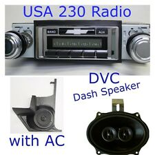 Package Deal 65 Chevelle El Camino USA 230 Radio DVC Dash Speaker Kick Panels