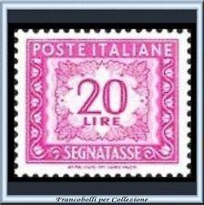 1956 Italia Repubblica L. 20 Segnatasse Stelle n 114 **