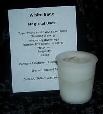 WHITE SAGE Candle - CRYSTAL JOURNEY Candles votive candle PURIFICATION Cleansing