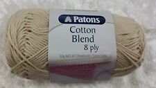 Patons Cotton Blend 8 Ply #4 Natural Cotton / Acrylic 50g