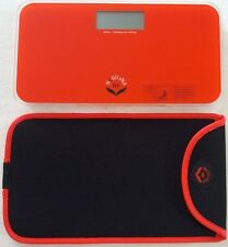 NewlineNY Mini Bathroom Scale+Travel Protection Case (Red-Orange:0720MNYRO+Bag)