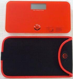 NewlineNY Mini Bathroom Scale+Travel Protection Case (Red-Orange:0720MNYRO+Bag)