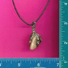 with quartz necklace 456 New pewter dragon claw