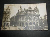1920 CARTOLINA GENOVA PIAZZA DE FERRARI VIAGGIATA ANIMATISSIMA
