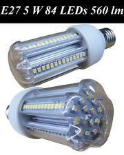 E27 5W Warm White 84 smd LED Bulbs Corn 560 lm Replaces 50/60 Watt