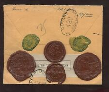 SWISS 1917 80c REG.LEYSIN MILITARY CENSOR SUPERB SEALS
